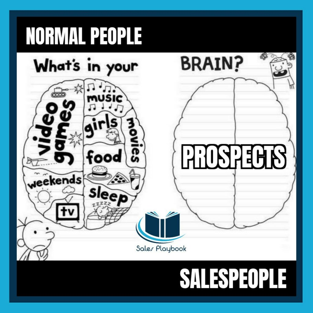Sales meme what's in your brain, normal people, salespeople