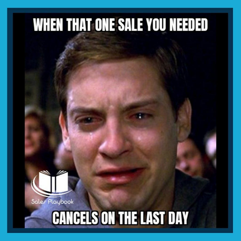 Sales meme when that one sale you needed cancels on the last day