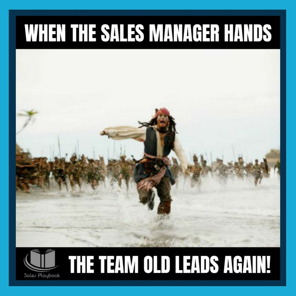 sales meme when the sales manager hands the team old leads again
