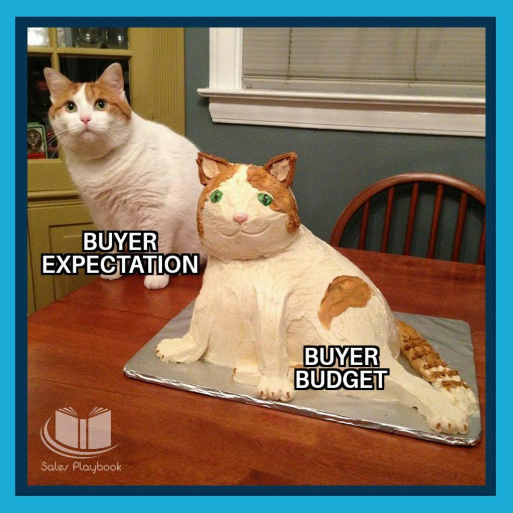 sales meme buyer expectation buyer budget