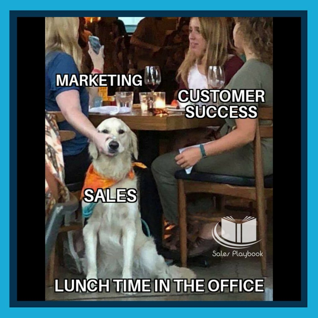 sales meme marketing customer success sales lunch time in the office