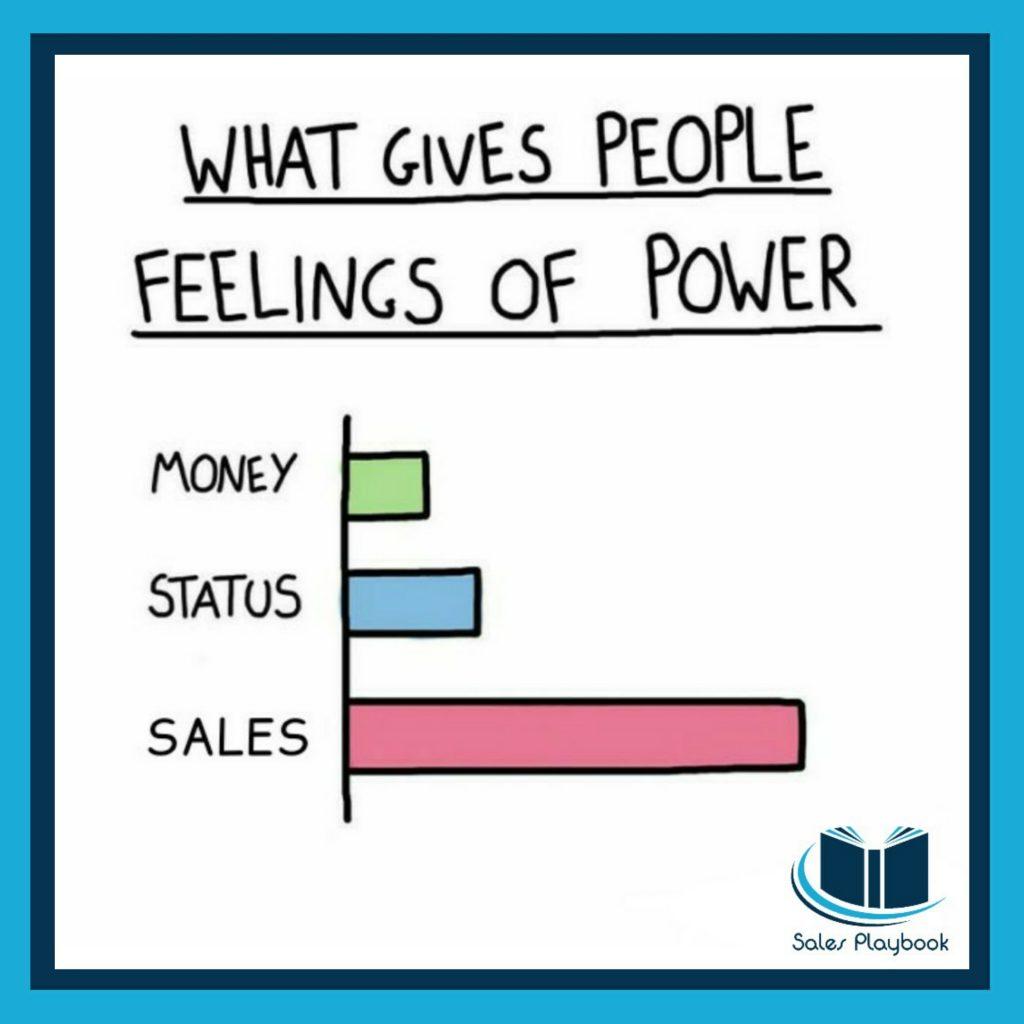 sales meme what gives people feelings of power money status sales
