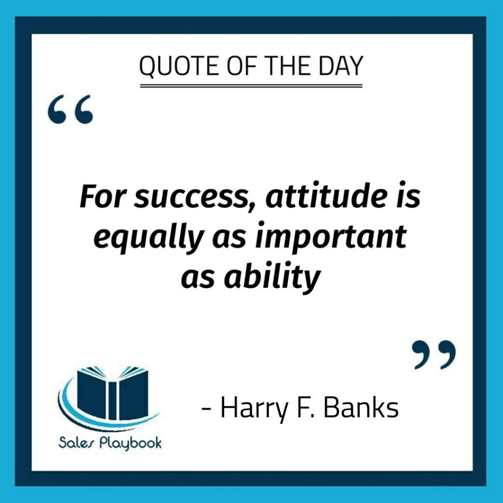 motivational quote for success attitude is equally as important as ability Harry F Banks