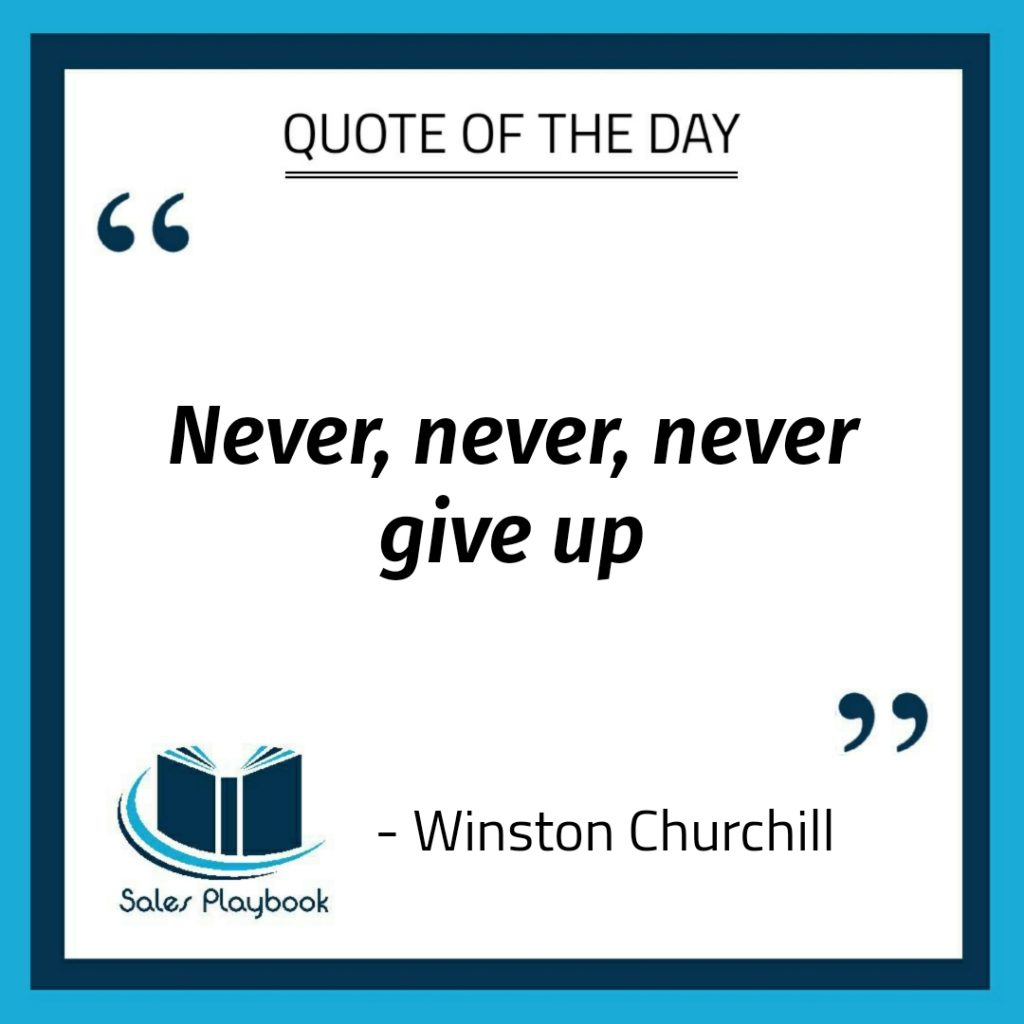 motivational quote never never never give up Winston Churchill