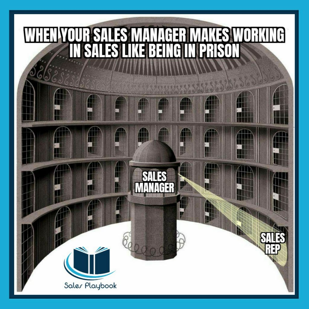 sales meme when your sales manager makes working in sales like being in prison